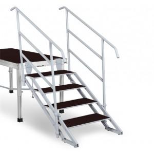 escalier 4 marches r glables. Black Bedroom Furniture Sets. Home Design Ideas